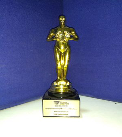 INVESTIGATION ENTERPRENEUR OF THE YEAR 2012 AWARD